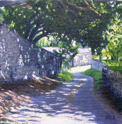 Shady lane in Mells